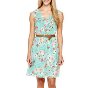 Alyx® Sleeveless Floral Print Chiffon Dress