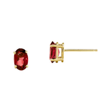 jcpenney.com | Lab-Created Ruby 14K Yellow Gold Stud Earrings