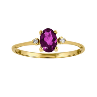 jcpenney.com | Genuine Red Rhodolite Diamond-Accent 14K Yellow Gold Ring