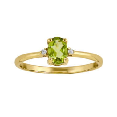 jcpenney.com | Genuine Peridot Diamond-Accent 14K Yellow Gold Ring