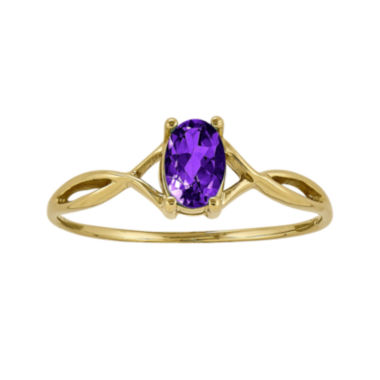 jcpenney.com | Genuine Purple Amethyst 14K Yellow Gold Ring