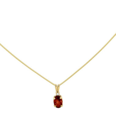 jcpenney.com | Genuine Red Garnet Diamond-Accent 14K Yellow Gold Pendant Necklace