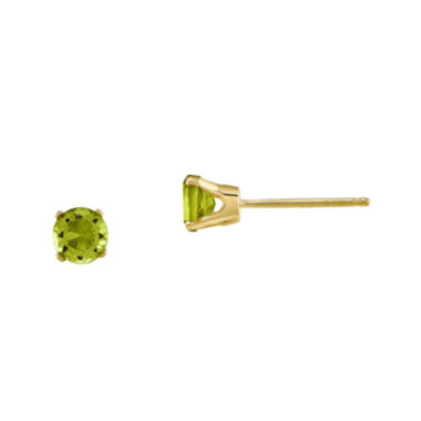 jcpenney.com | Genuine Green Peridot 14K Yellow Gold Stud Earrings