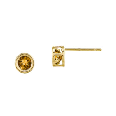 jcpenney.com | Genuine Yellow Citrine 14K Yellow Gold Stud Earrings
