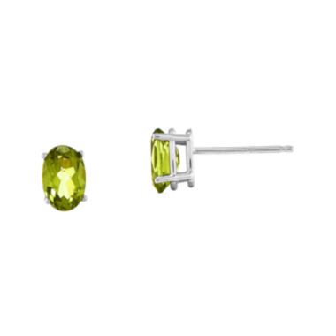 jcpenney.com | Genuine Green Peridot 14K White Gold Stud Earrings