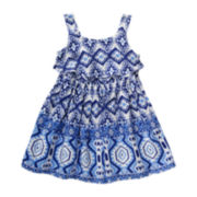 Youngland® Sleeveless Challis Popover Dress - Toddler Girls 2t-4t