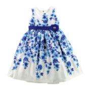 Nannette Sleeveless Floral Dress - Preschool Girls 4-6x