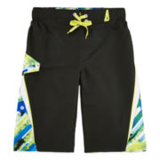 Zero Xposur® Havana Palm Graphic Swim Trunks with Goggles - Boys 8-20