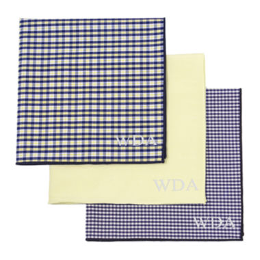 jcpenney.com | Personalized Gingham Handkerchief Set