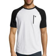 Zoo York® Zip It Short-Sleeve Raglan T-Shirt