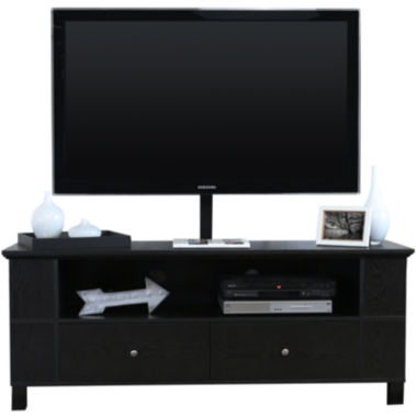 "jcpenney.com | McCallister 60"" Black Wood Entertainment Center with TV Stand"