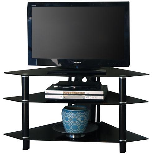 """Babbitt II 44"""" Glass Corner TV Stand"""