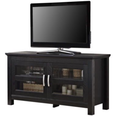 "jcpenney.com | Wilkes 44"" Black Wood Entertainment Center"