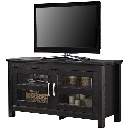 "Wilkes 44"" Black Wood Entertainment Center"