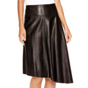 Worthington® Faux-Leather Asymmetrical Skirt