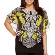 Alyx® Dolman-Sleeve Sublimation Popover Top - Plus