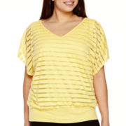 Alyx® Shadow-Stripe Dolman-Sleeve Top - Plus