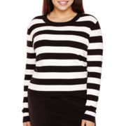 BELLE + SKY™ Long-Sleeve Striped Bodycon Top - Plus