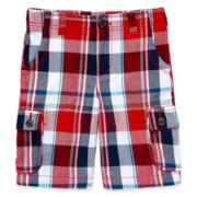 Arizona Plaid Cargo Shorts - Preschool Boys 4-7