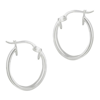 jcpenney.com | Sterling Silver Oval Hoop Earrings