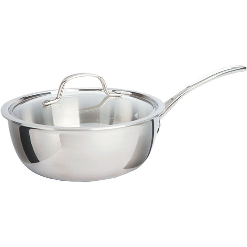 Calphalon® Tri-Ply 3-qt. Stainless Steel Chef's Pan
