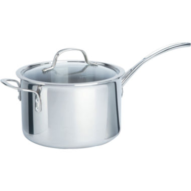 jcpenney.com | Calphalon® 4.5-qt. Tri-Ply Stainless Steel Saucepan
