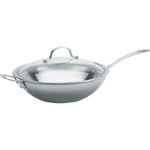 "Calphalon® Tri-Ply 12"" Stainless Steel Stir-Fry Pan"