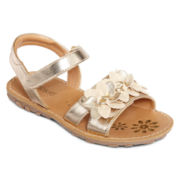 Okie Dokie®  Girls Flower Sandals - Toddler