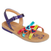 Okie Dokie®  Girls Heart Sandals - Toddler