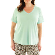 Insomniax® Short-Sleeve Sleep Tee - Plus