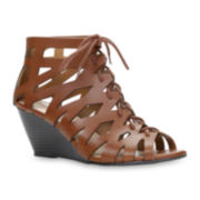 Call it Spring™ Talao Lace-Up Wedge Sandals