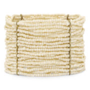 Decree® White Seedbead Bracelet