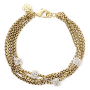 Monet® Gold-Tone Crystal Fireball Bracelet