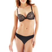 Ambrielle® Back-Smoothing Demi Bra or Lace-Trim Cotton-Blend Bikini Panties