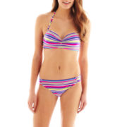 Arizona Striped Bandeau Swim Top or Hipster Bottoms - Juniors