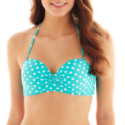 Arizona Polka Dot Bandeau Pushup Swim Top