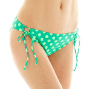 Arizona Polka Dot Side-Tie Adjustable Hipster Swim Bottoms
