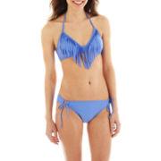 Arizona Fringe Halter Swim Top or Adjustable Hipster Bottoms