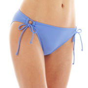 Arizona Adjustable Keyhole Hipster Swim Bottoms - Juniors