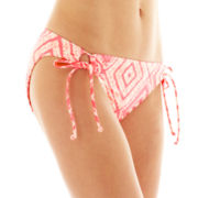 Arizona Diamond Print Adjustable Side-Tie Hipster Swim Bottoms