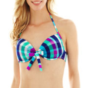 Arizona Underwire Pushup Bra Swim Top - Juniors