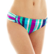 Arizona Ruched-Side Hipster Swim Bottoms  - Juniors