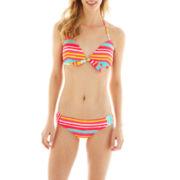 Arizona Pushup Bra Swim Top or Shirred-Side Hipster Bottoms - Juniors