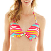 Arizona Pushup Triangle Bra Swim Top - Juniors