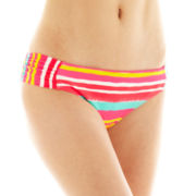 Arizona Ruched-Side Hipster Swim Bottoms