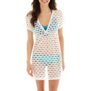 Arizona Eyelet Jersey Knit Kimono Cover-Up