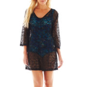 Porto Cruz® Medallion Crochet Cover-Up Tunic