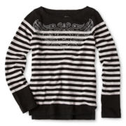 Joe Fresh™ Striped Graphic Tee - Girls 4-14