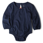 Joe Fresh™ Long-Sleeve Solid Bodysuit - Girls 3m-24m