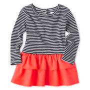 Joe Fresh™ Striped Dress - Girls 3m-24m